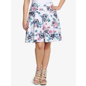 Torrid Floral Mini Skater Skirt Sz 2x NWT